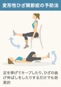 変形性ひざ関節症の予防に効果的な大腿四頭筋の運動