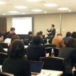 脂肪幹細胞研究会での横田医師の講演風景