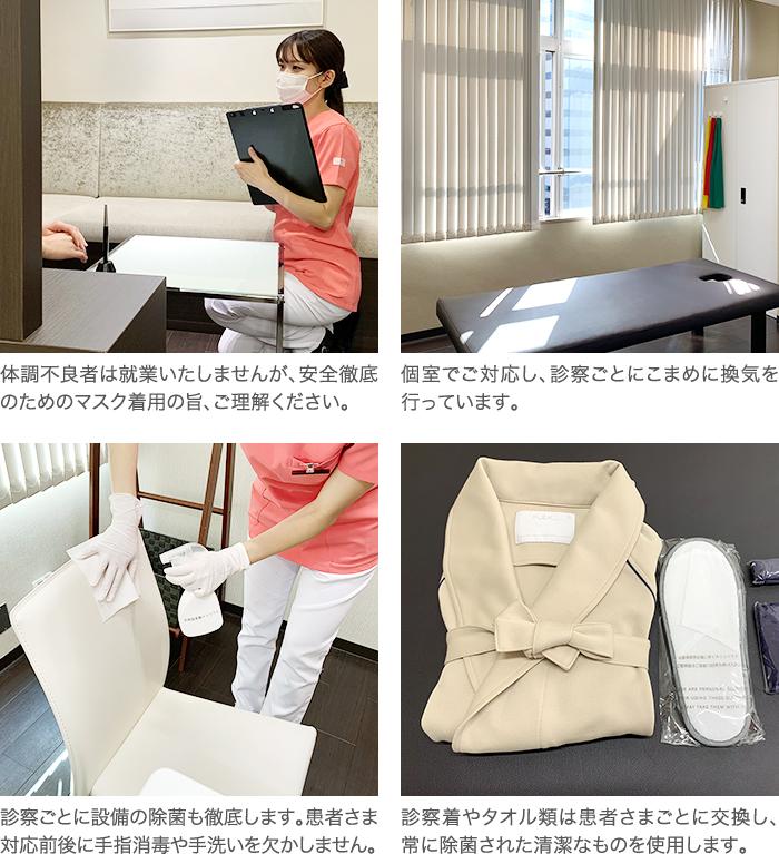 新型コロナ感染予防のためのひざ関節症クリに九kの取り組み